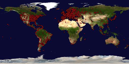Mapa Visitantes 08/01/2011