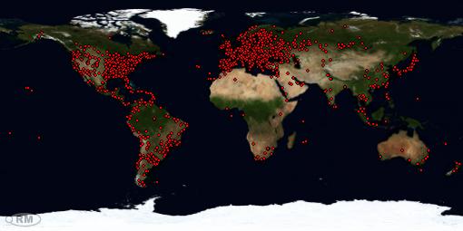 Mapa de visitas desde 08 ENERO 2010